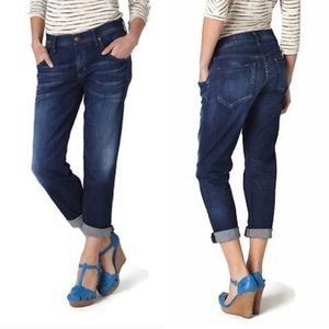 COH Dylan Drop Rise Cropped Denim Blue Jeans 28